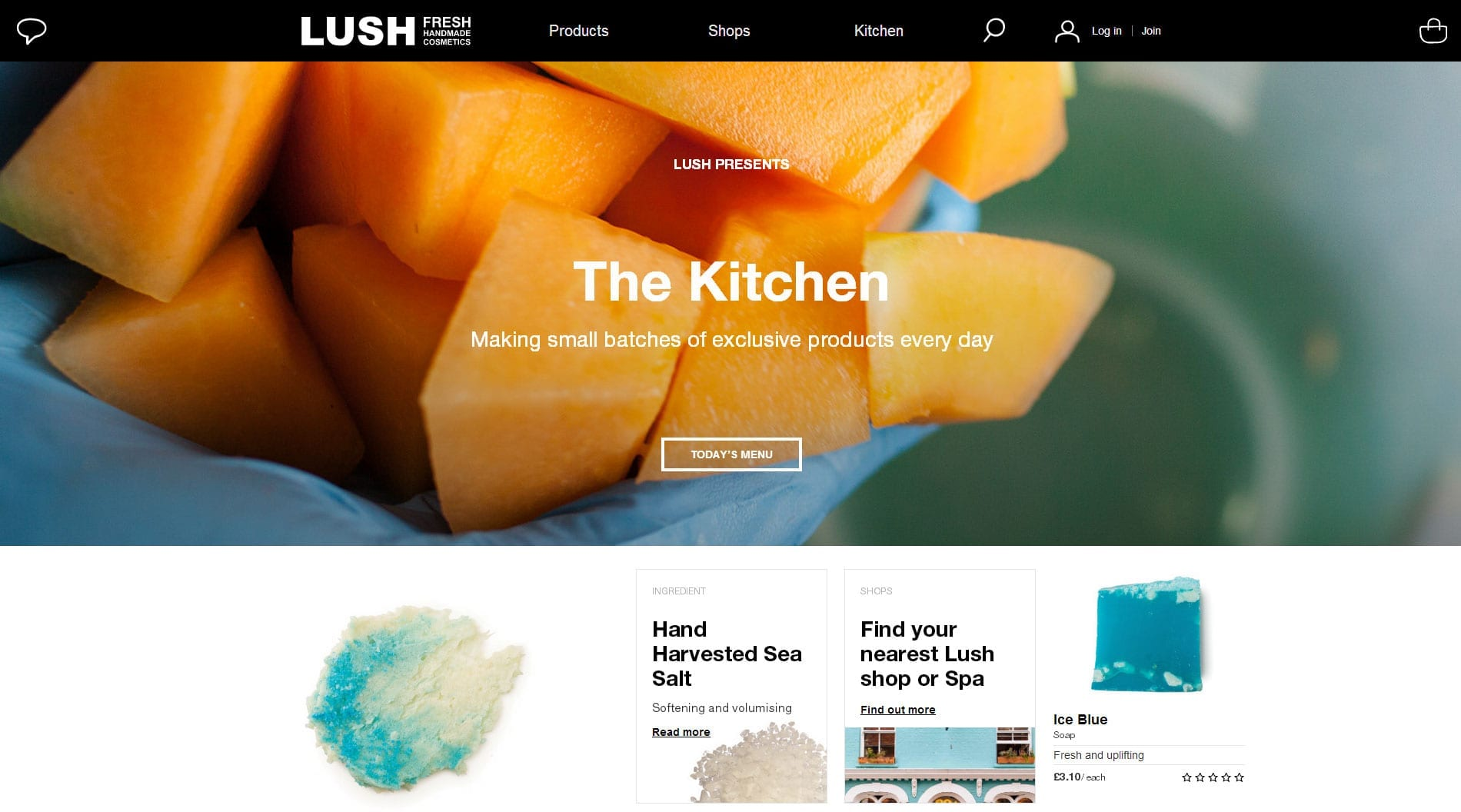Lush Cosmetics - How good responsive design scales up as well as down